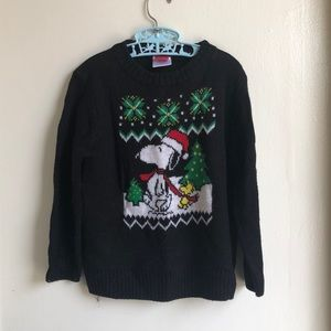 Peanuts Ugly Christmas Sweater Sz 5T Snoopy Knotts